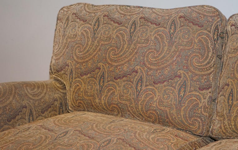 Hand-Crafted Mulberry Designer Made To Order Feather Filled Howard Manner Sofa For Sale