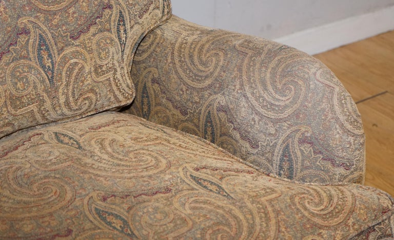 20th Century Mulberry Designer Made To Order Feather Filled Howard Manner Sofa For Sale