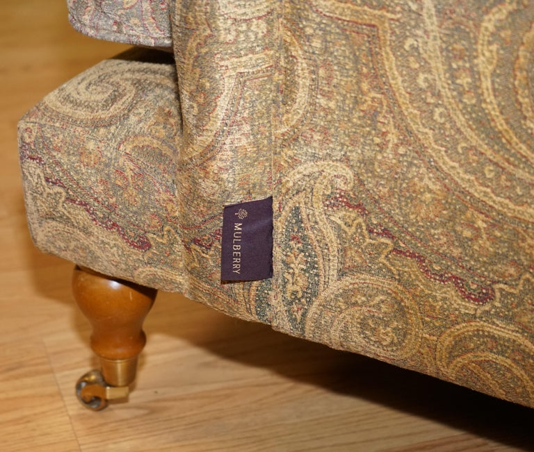 Mulberry Designer Made To Order Feather Filled Howard Manner Sofa For Sale 2