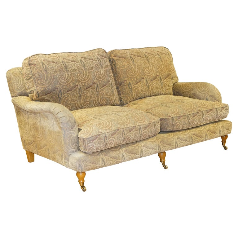 Mulberry Designer Made To Order Feather Filled Howard Manner Sofa For Sale