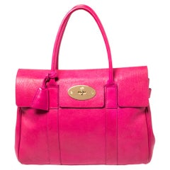 Mulberry Fuchsia Leather Bayswater Satchel