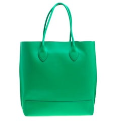 Mulberry Green Leather Blossom Shopper Tote