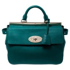 Mulberry Green Leather Top Handle Bag