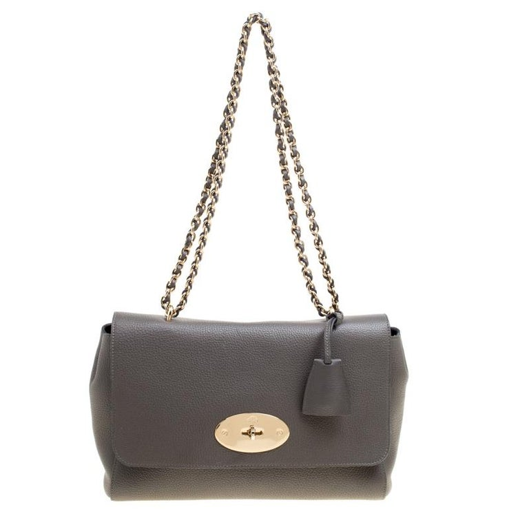 821febdc4d14 Mulberry Grey Leather Lily Shoulder Bag For Sale at 1stdibs