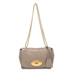 Mulberry Grey Leather Lily Shoulder Bag