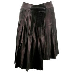 Mulberry Leather Black Skirt SIZE 40