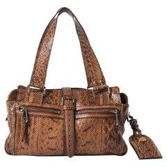 Mulberry Mable Brown Python Bowling Bag