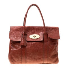 Mulberry Mahogany Textured Leather Bayswater Satchel