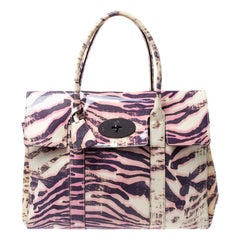Mulberry Multicolor Tiger Print Patent Leather Medium Bayswater Satchel