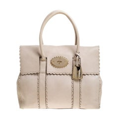 Mulberry Off White Leather Cookie Bayswater Satchel