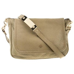Mulberry Olive Green Leather Flap Crossbody Bag