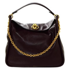 Mulberry Oxblood Small Classic Grain Calfskin Leighton Shoulder Bag rt. $1,495