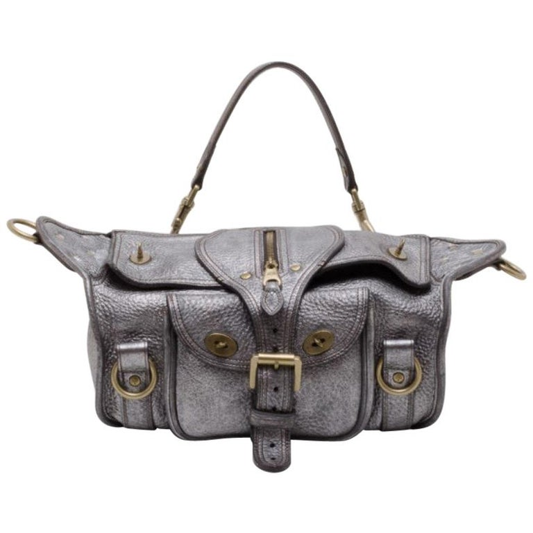 Mulberry Pewter Emmy Shoulder Bag For Sale. Get through your week in style  with this convertible Emmy satchel by Mulberry. Crafted from 80ae2045df