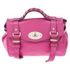 Mulberry Pink Leather Mini Alexa Crossbody Bag