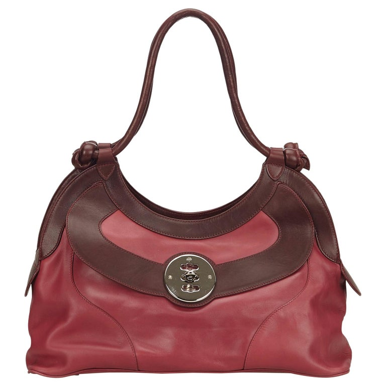 Mulberry Pink Two Toned Leather Shoulder Bag at 1stdibs f5f8d53c1f037