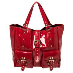 Mulberry Red Patent Leather Roxanne Tote