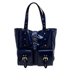 Mulberry Royal Blue Patent Leather Roxanne Tote