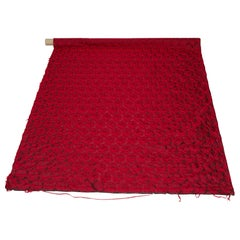 Mulberry Silk Red Roses Drapery Fabric