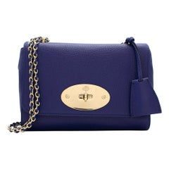 Mulberry Small Royal Blue Lily Bag 20cm