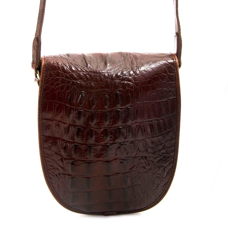 7e781768cd15 Mulberry Vintage Crocodile Embossed Crossbody Bag For Sale at 1stdibs