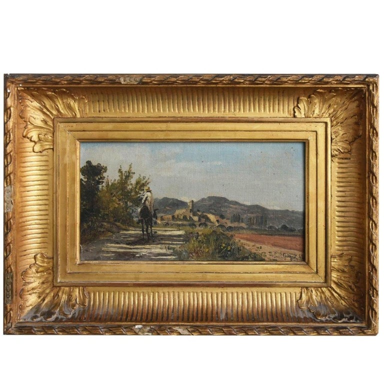 """""""Muleteer Returning to the Provençal village"""" by Paul Guigou For Sale"""
