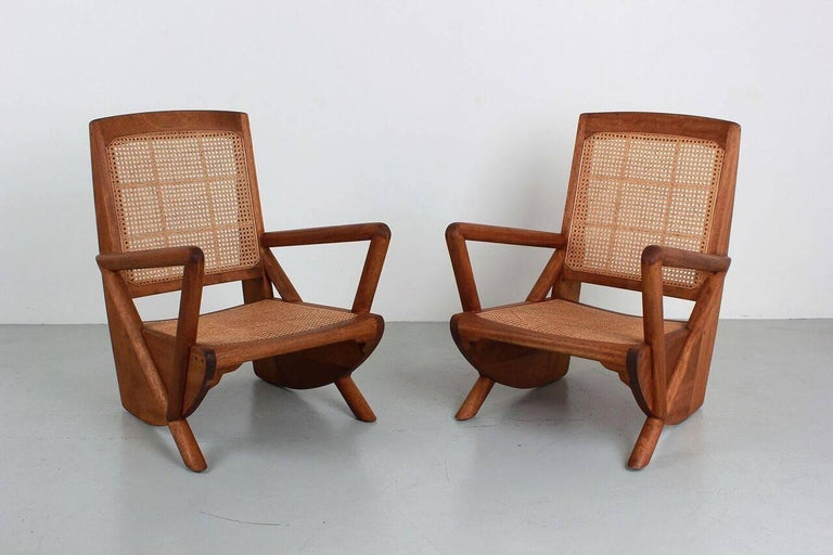 American Mulholland Caned Chairs For Sale