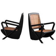 Mulholland Caned Chairs in Ebony