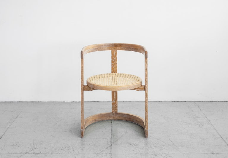 American Mulholland Caned Dining Chair For Sale