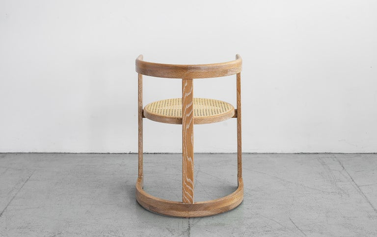 Mulholland Caned Dining Chair In New Condition For Sale In Los Angeles, CA