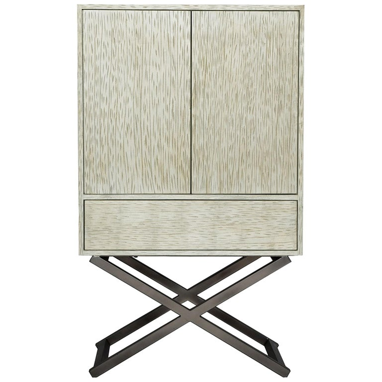 Mulholland Dresser in Antique Silver and Natural Metal by Badgley Mischka Home For Sale