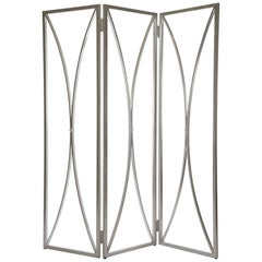 Mulholland Room Screen in Antique Silver by Badgley Mischka Home