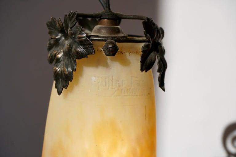 Muller Freres Art Deco Four-Light Chandelier For Sale 7