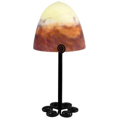 Muller Frères French Art Deco Table Lamp, 1920s