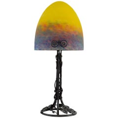 Muller Freres French Art Deco Table Lamp, Early 1920s