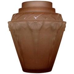 Muller Freres Luneville French Art Deco Glass Vase
