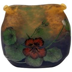 Muller Frères Vase Art Nouveau Nasturtium Croismare Lunéville France 1919-25