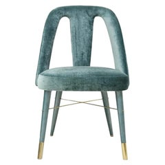 Mulligan Chair with Polished Brass