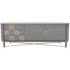 Mulligan Sideboard with Brass Details