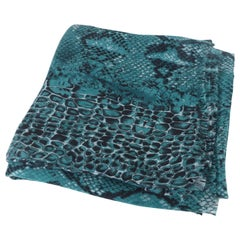 Multi Animal Print Scarf with Frayed Trim