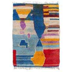 Colorful Beni Ourain Moroccan Wool Rug