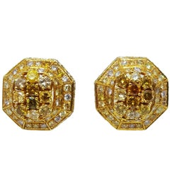 Multi-Color 8.00 Carat Diamond Earrings