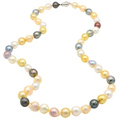 Multi-Color Baroque South Sea and Freshwater Pearl Necklace