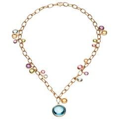 Goshwara Multi-Color Charm Necklace