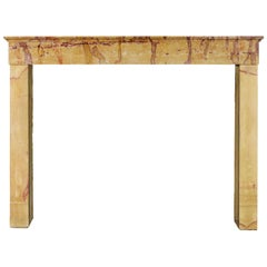 Multi-Color Created by Nature French Vintage Fireplace Surround in Limestone