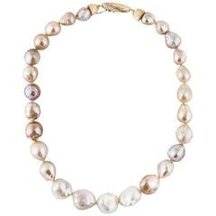 Multi-Color Cultured Baroque Pearl Necklace