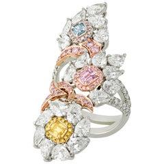 Multi-Color Diamond Cocktail Ring