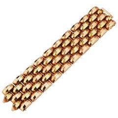 Multi Color Gold Retro Tank Bracelet