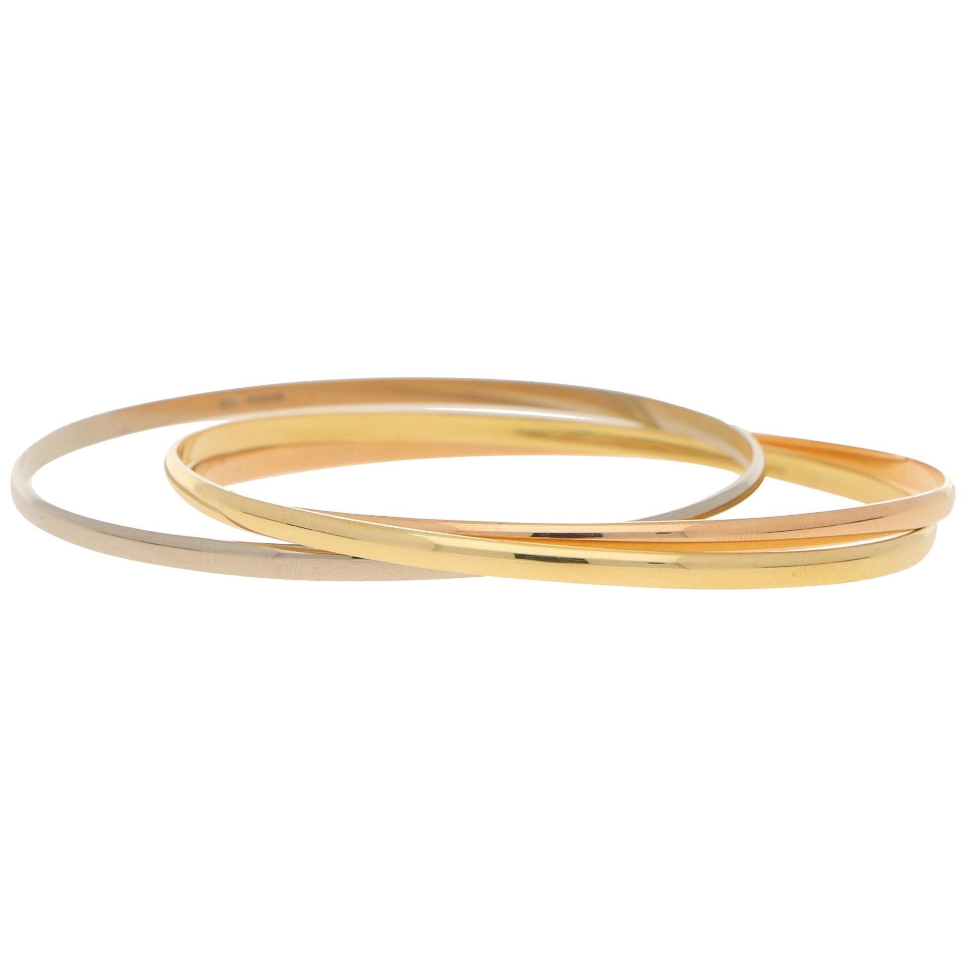 Russian Bangle in Three-Colour 18ct Gold