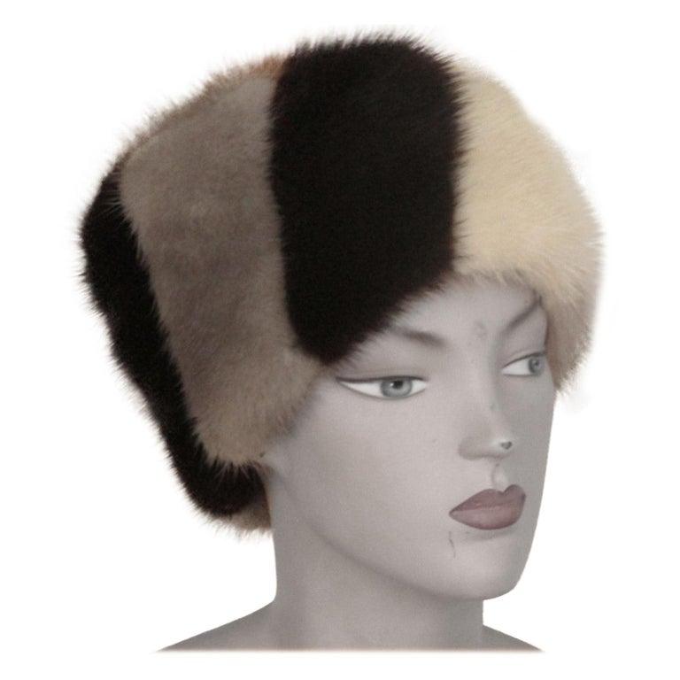 Multi-color Mink Fur Hat For Sale