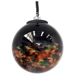 Multi-Color Murano Glass Globe Pendant